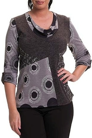 Bali Corp. Grey Sweater Top - Front cropped