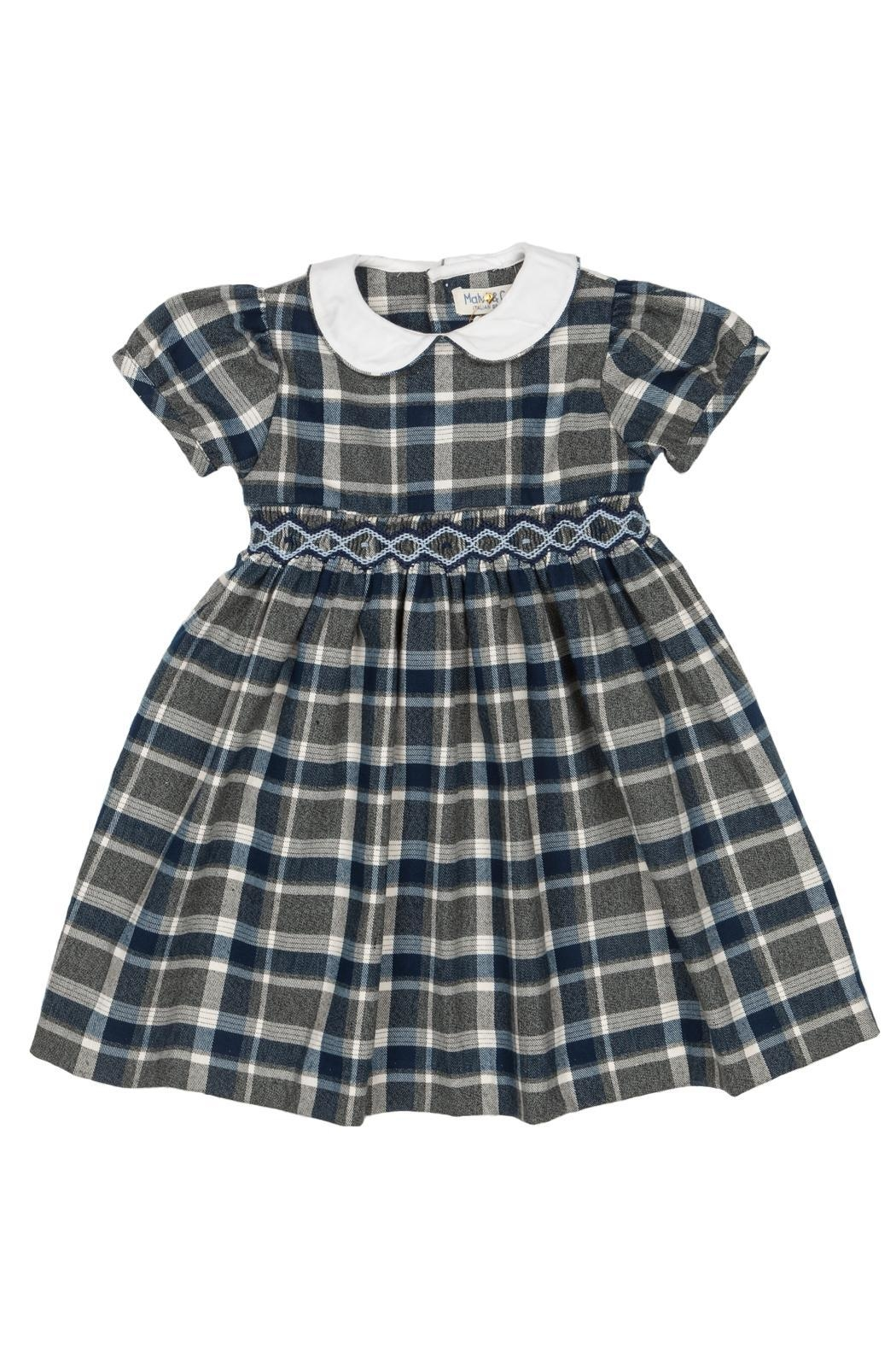 Malvi & Co. Grey Tartan Dress. - Main Image