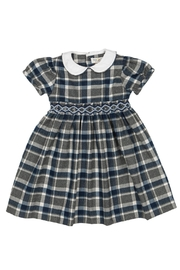 Malvi & Co. Grey Tartan Dress. - Front cropped