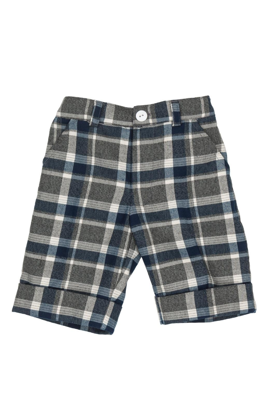 Malvi & Co. Grey Tartan Shorts. - Main Image