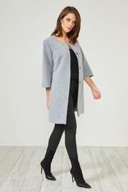 Urban Touch Grey Texturedsmart Coatjacket - Product Mini Image