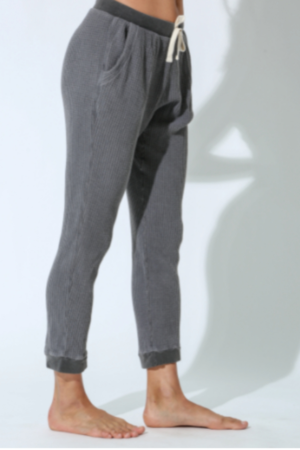 Electric & Rose Grey Thermal Jogger - Front Full Image