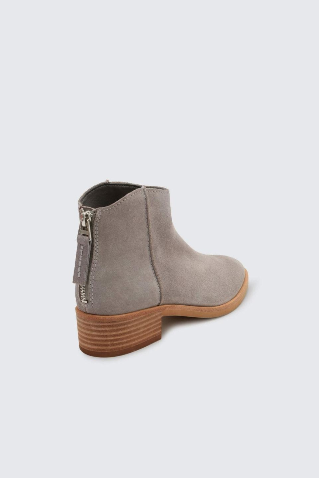 Dolce Vita Grey Tucker Booties - Side Cropped Image
