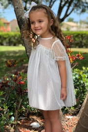 cesar blanco Grey Tulle Dress - Front cropped