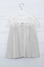cesar blanco Grey Tulle Dress - Side cropped
