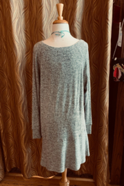 Charlie Paige Grey Tunic Dress - Front full body
