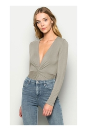 Polly & Esther Grey V-Neck Bodysuit - Product Mini Image