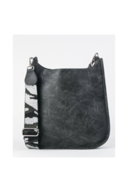Ah!dorned Grey Vegan Messenger With Silver Camo Strap - Front full body