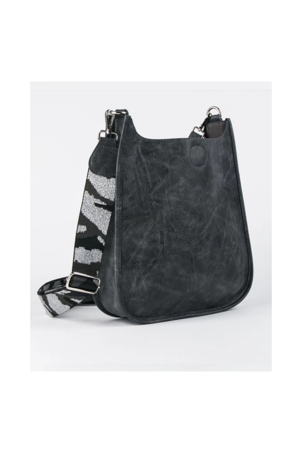 Ah!dorned Grey Vegan Messenger With Silver Camo Strap - Main Image