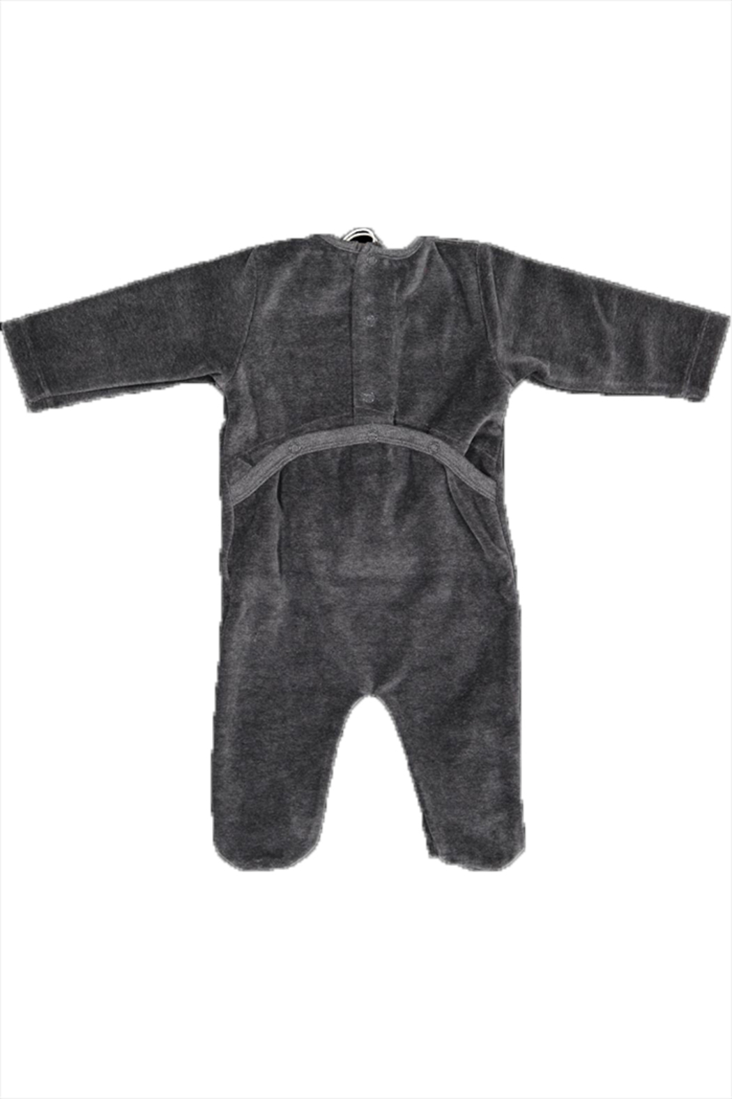 Pounds and Ounces Grey Velour Stretchy - Front Full Image