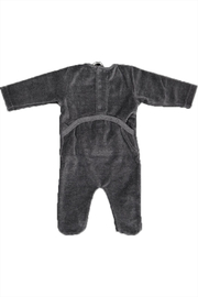 Pounds and Ounces Grey Velour Stretchy - Front full body