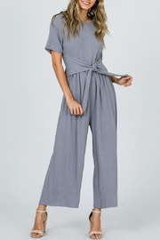 Ces Femme Grey Waist-Tie Jumpsuit - Product Mini Image