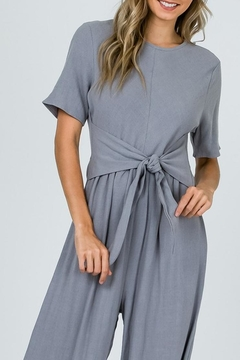 Ces Femme Grey Waist-Tie Jumpsuit - Alternate List Image