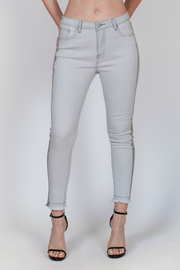 Bianco Jeans Grey Wash Tuxedo Jean - Product Mini Image