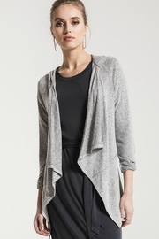 Zsupply Grey Waterfall Cardigan - Front cropped