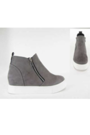 Lyn -Maree's Grey Wedge Sneaks - Front cropped