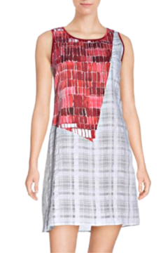 Aventures Des Toiles Grey/White/Red Sleeveless Shift - Product List Image