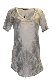 David Cline Grey/white Top - Product Mini Image