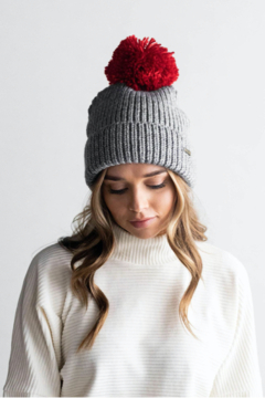 Gigi Pip Grey with Red Red Pom - Product List Image