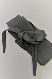 Italian Collection Grey Wrap Belt - Front cropped