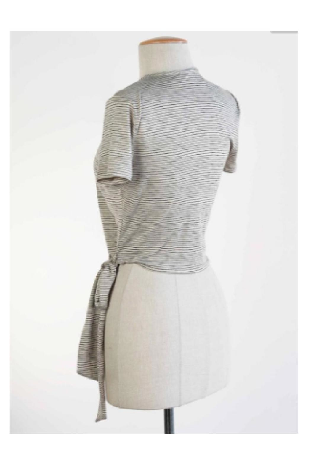 Final Touch Grey Wrap Top - Front Full Image