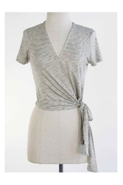 Final Touch Grey Wrap Top - Product Mini Image