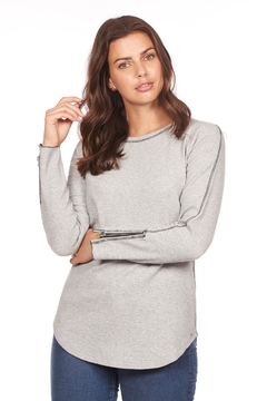 FDJ French Dressing Grey Zipper Top - Alternate List Image