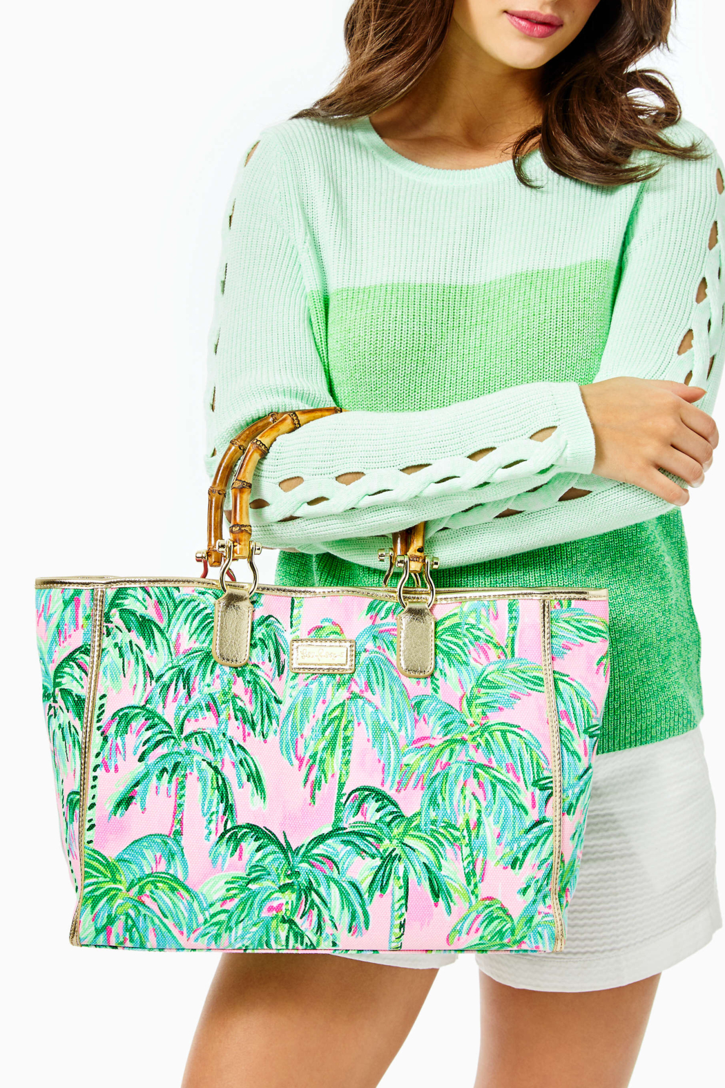 Lilly Pulitzer  Greydon Canvas Tote - Back Cropped Image