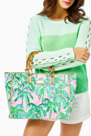 Lilly Pulitzer  Greydon Canvas Tote - Back cropped