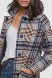 Greylin Austar Plaid Coat - Front cropped