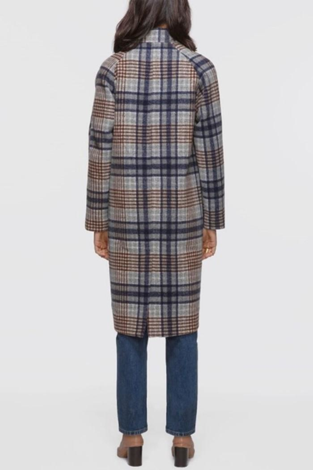 Greylin Austar Plaid Coat - Side Cropped Image