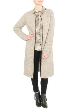 Shoptiques Product: Brown Long Cardigan