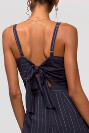 Greylin Christina Pinstripe Jumpsuit - Back cropped