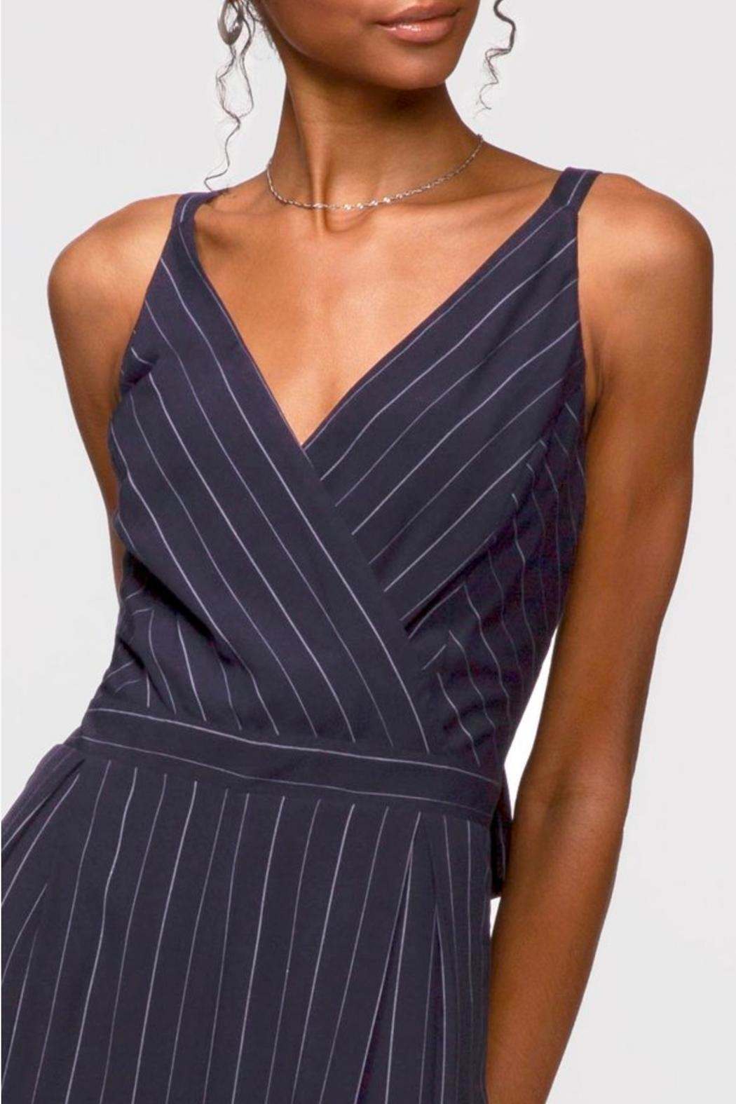 Greylin Christina Pinstripe Jumpsuit - Side Cropped Image