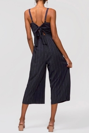 Greylin Christina Pinstripe Jumpsuit - Front full body
