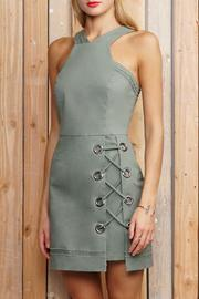 Greylin Grommet Lace Up Dress - Product Mini Image