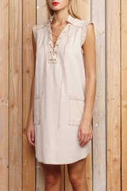 Greylin Lace Up Dress - Product Mini Image