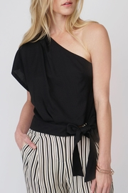 Greylin One Shoulder Blouse - Front cropped