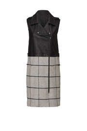 Greylin Plaid Moto Vest - Front cropped