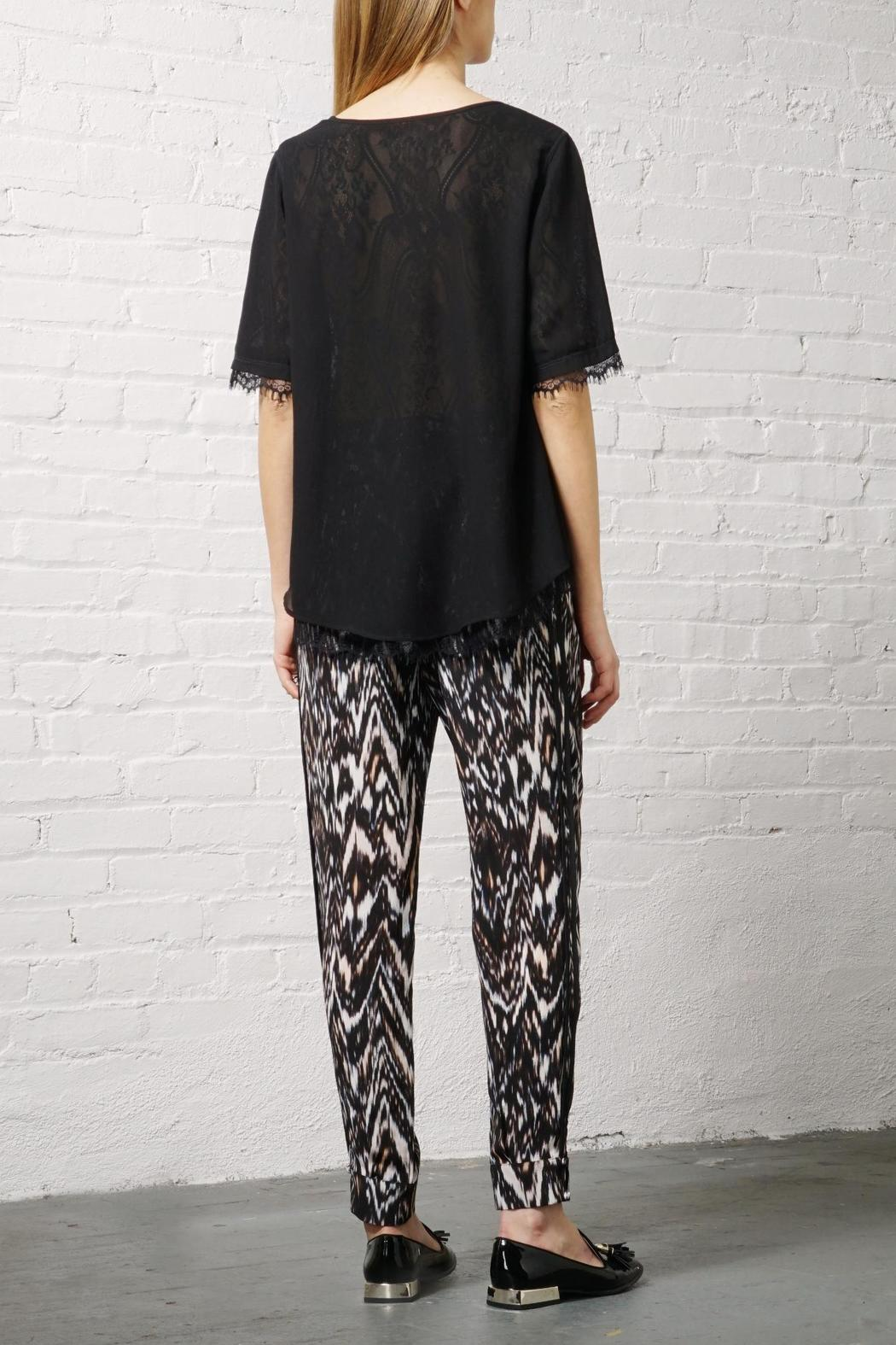 Greylin Silk Ankle Trouser - Front Full Image