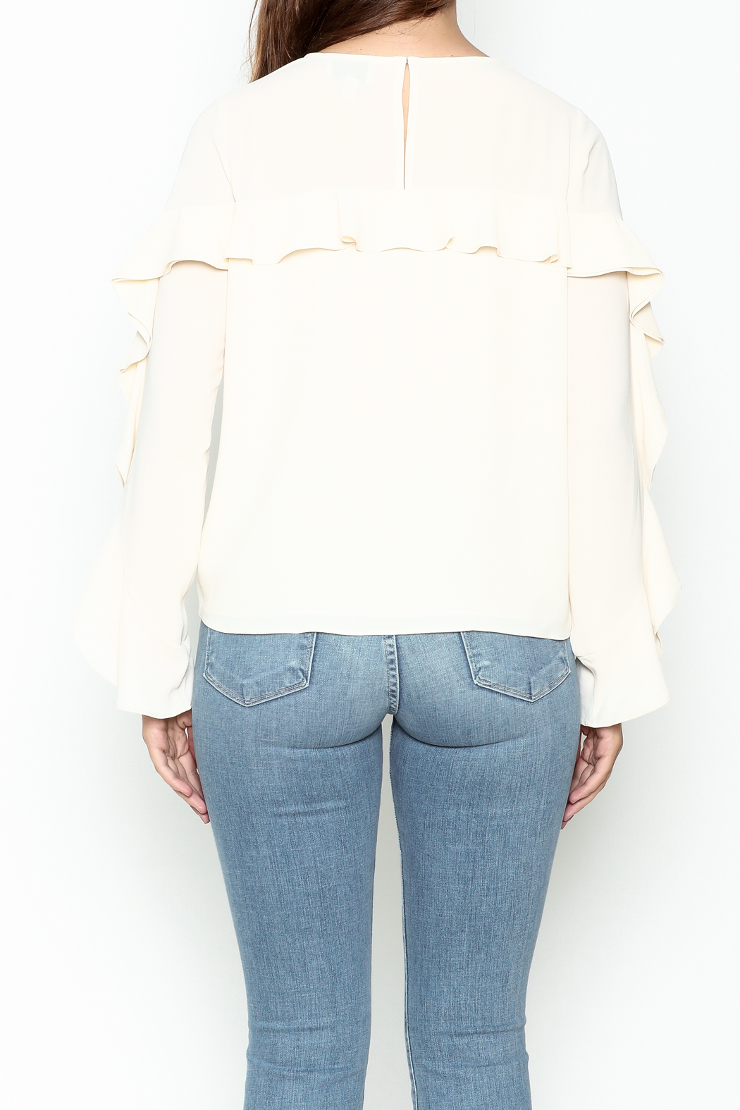 Greylin Thalia Ruffled Blouse - Back Cropped Image
