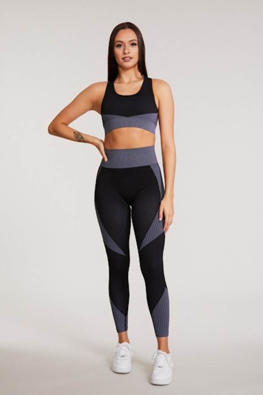 Miss Sparkling Gracie Crossback Sports Bra - Front Cropped Image