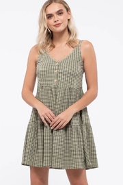 blu pepper  Grid Check Tiered Dress - Back cropped