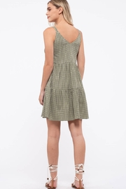 blu pepper  Grid Check Tiered Dress - Other