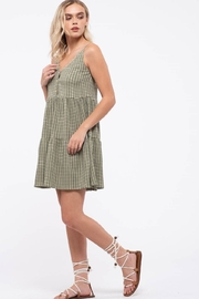blu pepper  Grid Check Tiered Dress - Side cropped