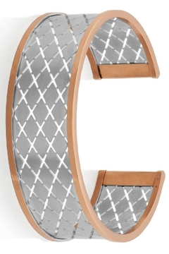 Bling It Around Again Grid Cuff Bracelet - Product List Image