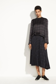 Vince Grid Plaid Blouse - Product Mini Image