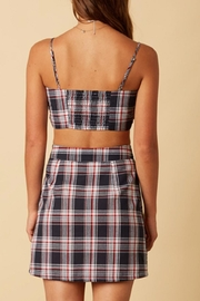 Cotton Candy LA Grid Tie Crop - Side cropped