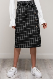 Mustard Seed Gridline Knee Skirt - Product Mini Image