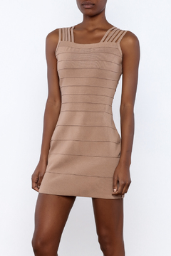 Griffin Camel Bandage Dress - Product List Image